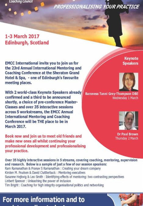 Tematy wystąpień na konferencji EMCC w Edynburgu