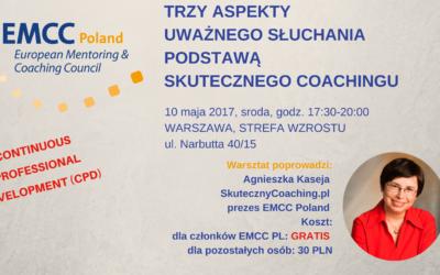 Warsztat doskonalący dla coachów 10.05.2017 Warszawa