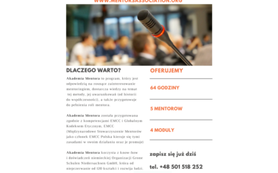 Dzień z EMCC w ramach 2. edycji Akademii Mentora MSM