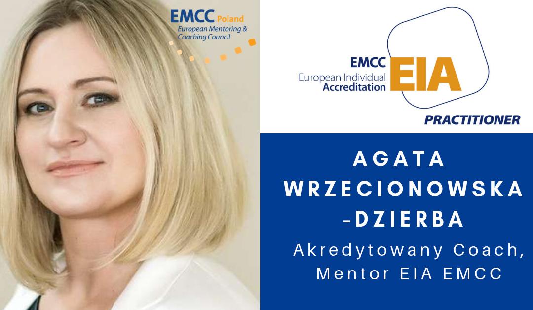 Agata Wrzecionowska-Dzierba Coach Mentor EIA EMCC