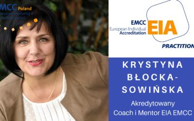 Akredytowany coach i mentorka EMCC Krystyna Błocka-Sowińska